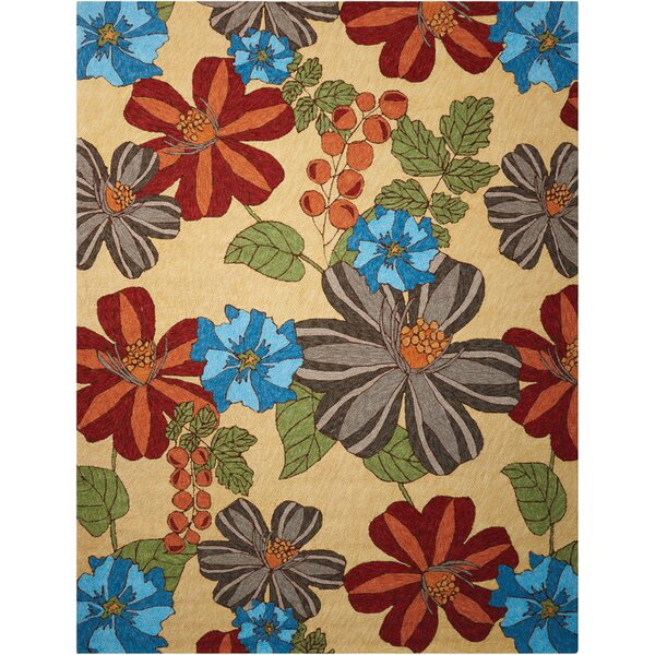 Towanda Hand-Woven Beige/Brown/Blue Indoor/Outdoor Area Rug by Red Barrel Studio