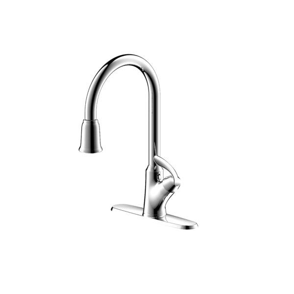 Stilleto Pull Down Single Handle Kitchen Faucet