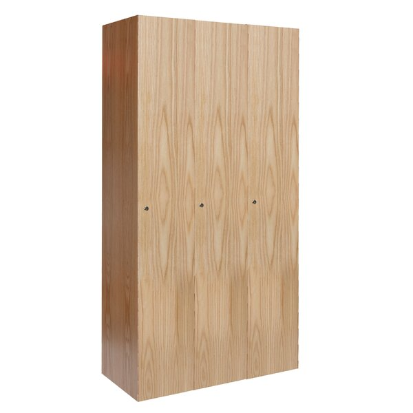 Club 1 Tier 3 Wide School Locker by Hallowell
