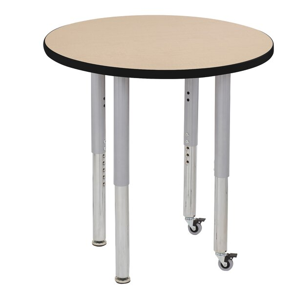 Maple Top Thermo-Fused Adjustable 30 Circular Activity Table by ECR4kids