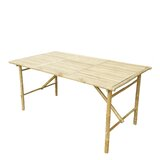 Shirli Folding Solid Wood Dining Table byBayou Breeze