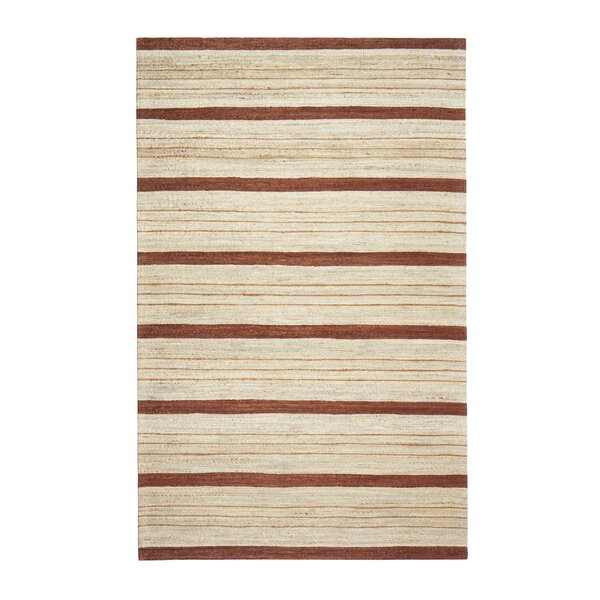 Hamden Hand-Woven Brown/Beige Area Rug by George Oliver