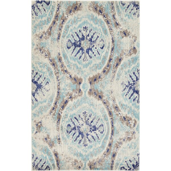 Alstrom Blue Area Rug by Bungalow Rose