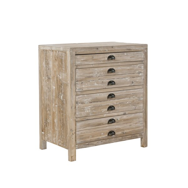 Small Apothecary 4 Drawer Accent Chest by Furniture Classics