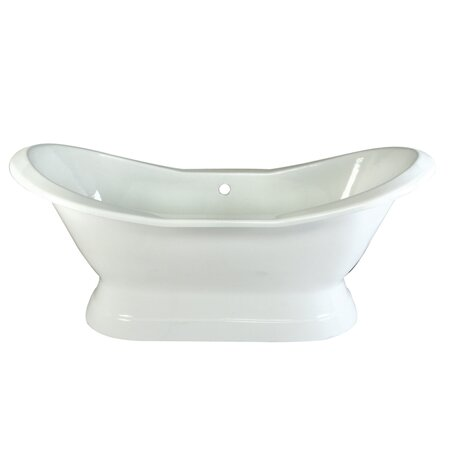 Aqua Eden 72 x 31 Freestanding Soaking Bathtub by Kingston Brass