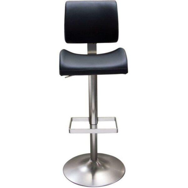 Jaina Leatherette Upholstered Adjustable Height Bar Stool by Orren Ellis