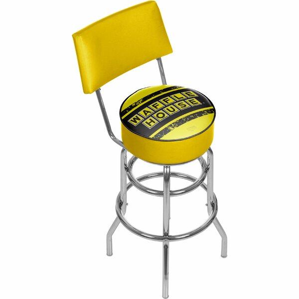 Waffle House 31 Swivel Bar Stool by Trademark Global