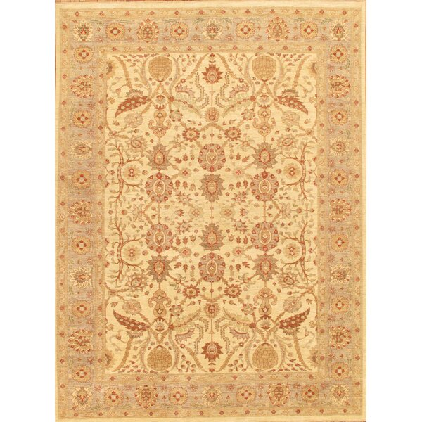 Ferehan Hand-Knotted Beige/Light Blue Area Rug by Pasargad
