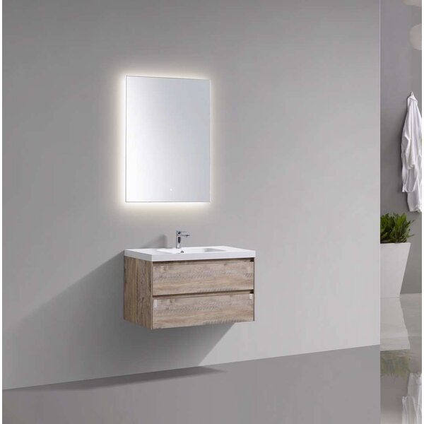 Paramount 35.2 Wall Mounted Single Bathroom Vanity Base Only in Nature Woof