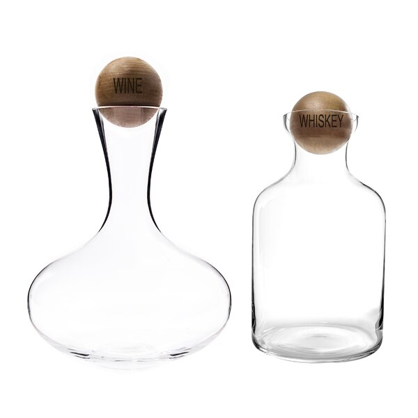 Wine and Whiskey Decanter Set by Cathys Concepts