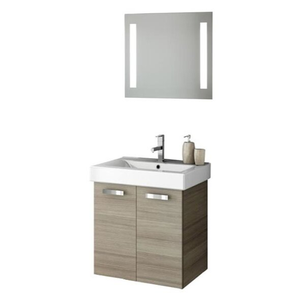 Cubical 24 Single Bathroom Vanity Set with Mirror by ACF Bathroom VanitiesCubical 24 Single Bathroom Vanity Set with Mirror by ACF Bathroom Vanities