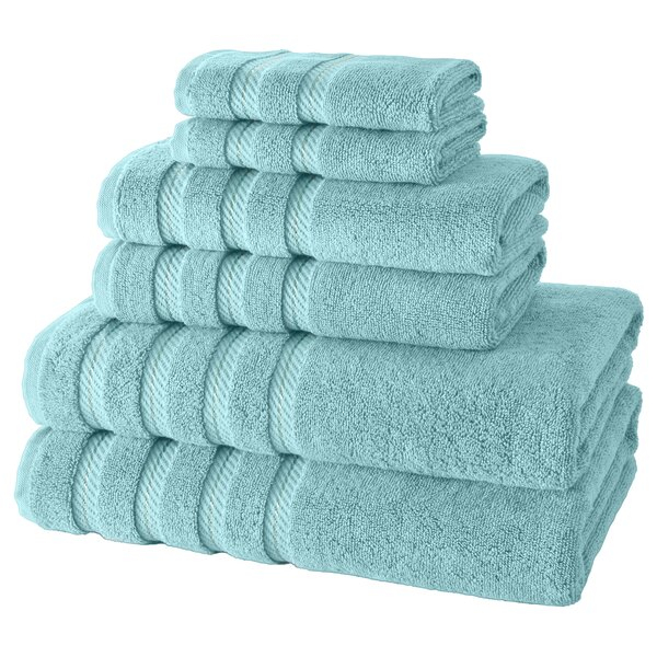 Antalya 6 Piece Turkish Cotton Towel Set by Makroteks Textile L.L.C.