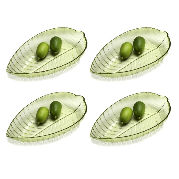 Flournoy Oval Leaf Shaped Platter (Set of 4) by Bay Isle Home
