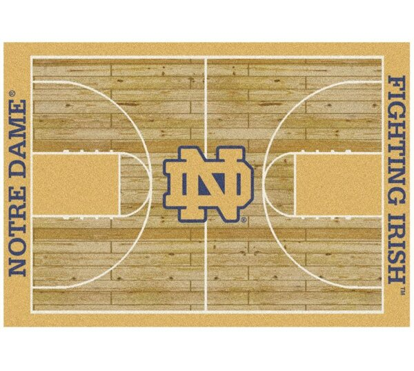 NCAA College Home Court Notre Dame Novelty Rug by My Team by Milliken