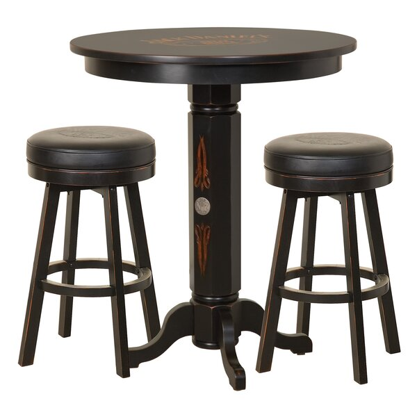 3 Piece Solid Wood Dining Set by Jack Daniel's Lifestyle Products