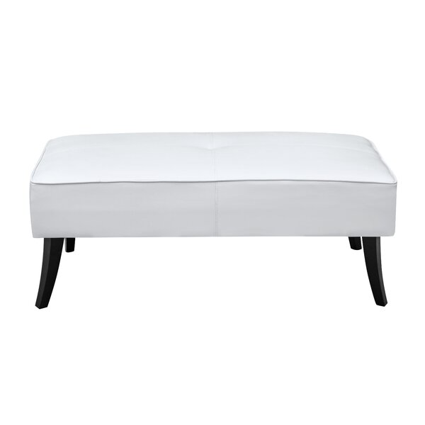 Danial Leather Bench by Fine Mod Imports
