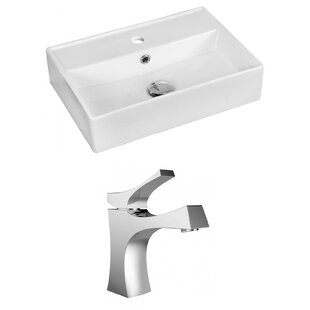 Buying Ceramic Rectangular Vessel Bathroom Sink with Faucet and Overflow ByRoyal Purple Bath Kitchen