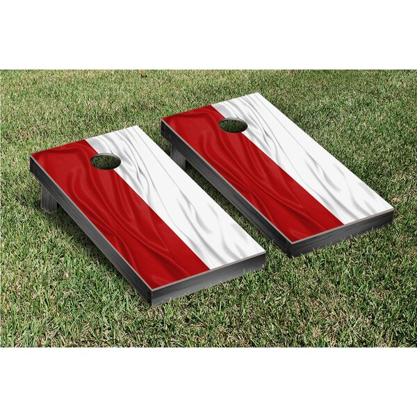 Country Rippled Flag Cornhole Game Set by Victory Tailgate