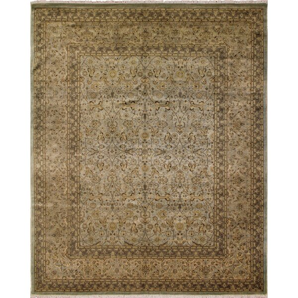 Roselle Turkish Hand Knotted Wool Beige Area Rug by Astoria Grand