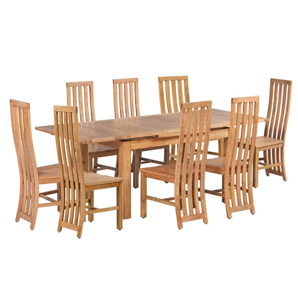 Arreola 9 Piece Extendable Solid Wood Dining Set by Loon Peak