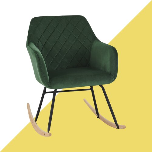 Schaukelstuhl Rothwell Hashtag Home Farbe: Grün   Wohnzimmer > Stüle   Hashtag Home