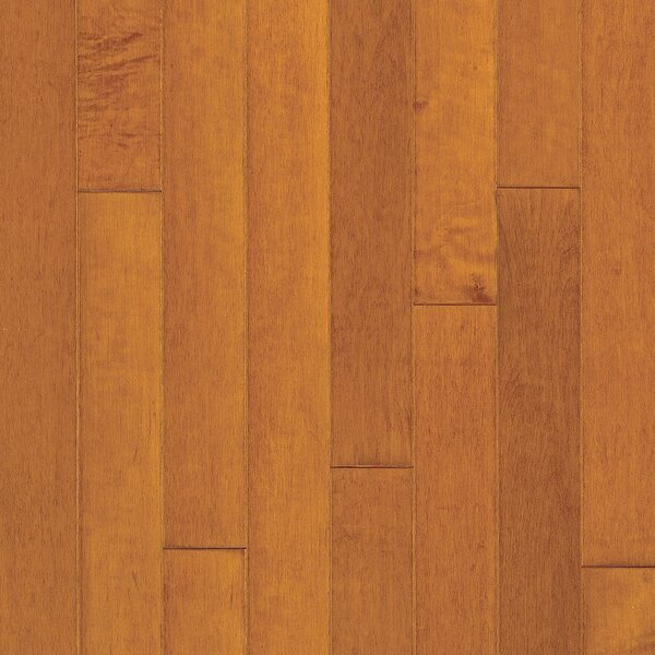 Turlington 3 Engineered Maple Hardwood Flooring in Low Glossy Cinnamon by Bruce Flooring