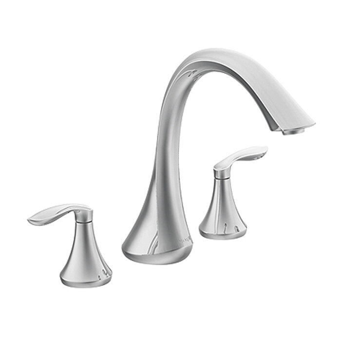 Moen Eva Double Handle Deck Mount Roman Tub Faucet & Reviews | Wayfair