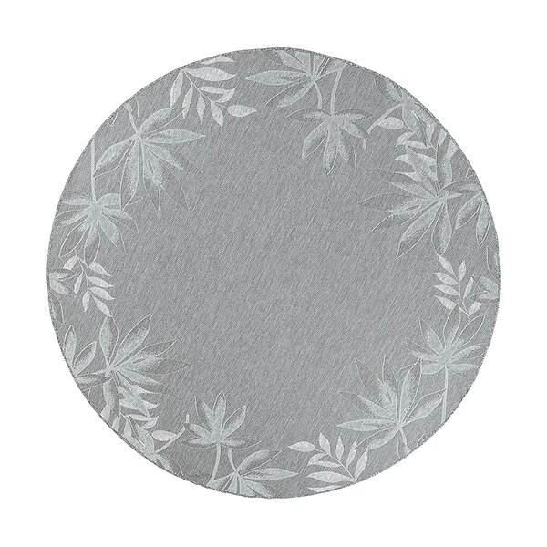 Maguire Sage Fern Border Indoor/Outdoor Area Rug by Bay Isle Home