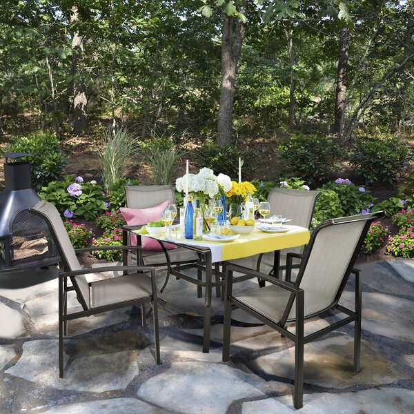 Chidsey Outdoor 5 Piece Dining Set by Latitude Run