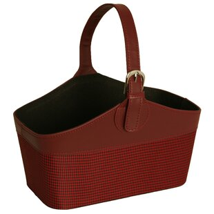 Faux Leather and Fabric Basket eab270c11630d