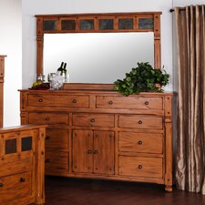 Hawthorne 9 Drawer Combo Dresser with Mirror by Loon Peak