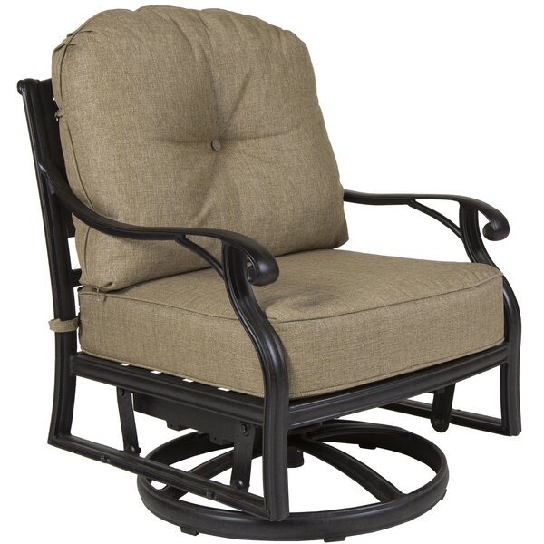 Gadson Castle Rock Swivel Glider Chair with Cushions (Set of 4) by Red Barrel Studio