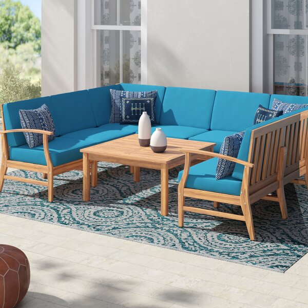 Antonia 9 Piece Sectional Seating Group with Cushions by Mistana