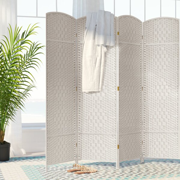 Nowayton 4 Panel Room Divider by Bay Isle Home
