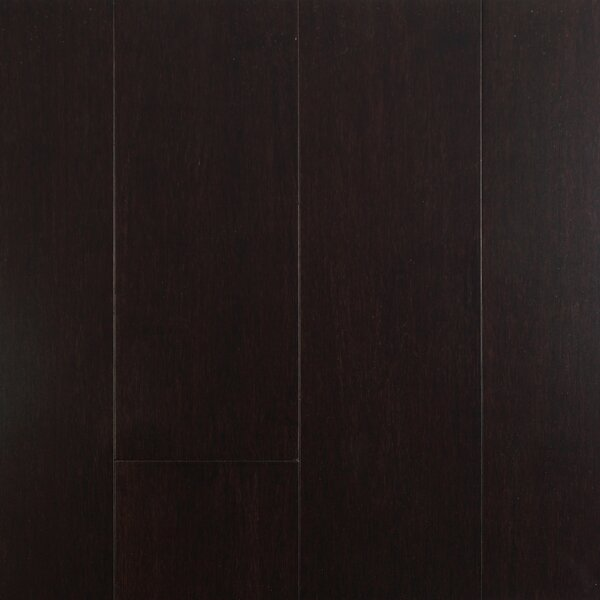 4-1/2  Solid-Lock Strandwoven Bamboo Flooring in Dark Chocolate by ECOfusion Flooring