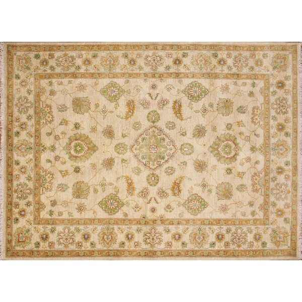 One-of-a-Kind Au Balochi Hand-Knotted Ivory Area Rug by Isabelline