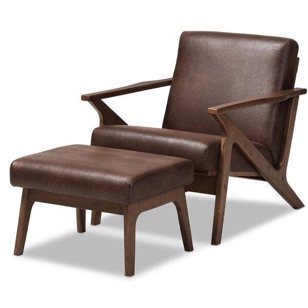 Wojtala Mid-Century Modern Solid 2 Piece Living Room Set by Union Rustic