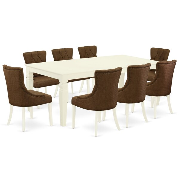 Lelystad 9 Piece Extendable Solid Wood Dining Set By Winston Porter