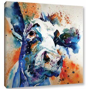 Cow 37 Painting Print on Wrapped Canvas by Latitude Run