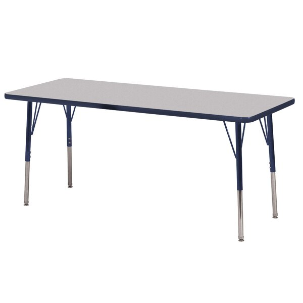 Thermo-Fused Adjustable 24 x 60 Rectangular Activity Table by ECR4kids