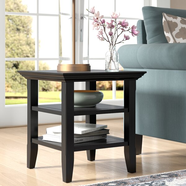 Mayna Solid Wood End Table with Storage by Alcott Hill Alcott Hill
