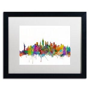 'New York City Skyline' Framed Graphic Art by Ivy Bronx