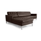 Nigan Leather Sectional by Orren Ellis