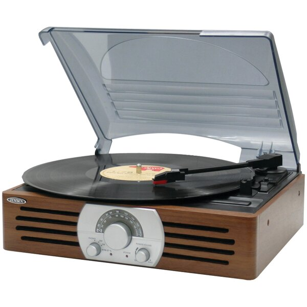3-Speed Turntable with AM/FM Stereo Radio by Jense