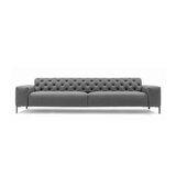 Boston Velvet 98.43 Square Arm Sofa by Pianca USA