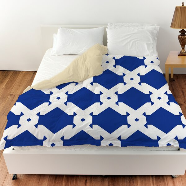 Modern Geometric Sapphire Duvet Cover by Manual Woodworkers & Weavers