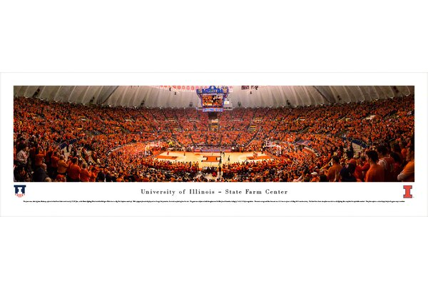 NCAA Illinois, University of - Basketball by James Blakeway Photographic Print by Blakeway Worldwide Panoramas, Inc