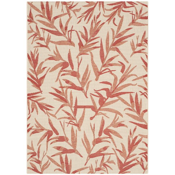 Higgs Beige & Terracotta Area Rug by Beachcrest Home