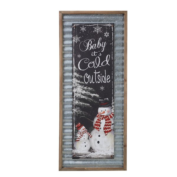 Walter Wood & Metal Snowman Wall Décor by The Holiday Aisle