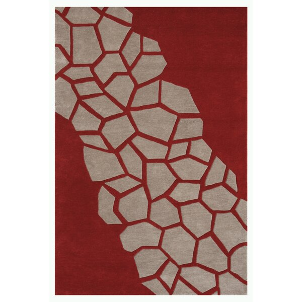 Riviera Dark Red Area Rug by Noble House